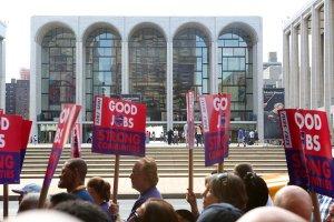 Metropolitan Opera in dispute with unions.